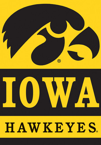 Iowa Hawkeyes Official 28x40 NCAA Premium Team Banner - BSI Products