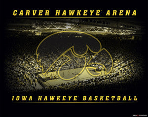 Iowa Hawkeyes Basketball Carver Arena Game Night Poster Print - ProGraphs Inc.