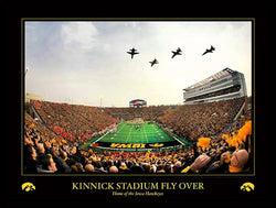 "Iowa Hawkeyes Football Kinnick Stadium ""Historic Flyover"" (11/20/2010) Premium Poster"