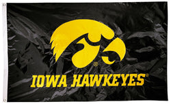 Iowa Hawkeyes Official NCAA Premium Nylon Applique 3'x5' Flag - BSI Products Inc.