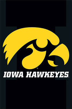 Iowa Hawkeyes Official NCAA Team Logo Poster - Costacos Sports