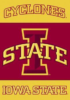 Iowa State Cyclones New-School Premium Banner Flag - BSI Products