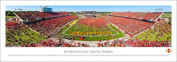 "Iowa State Cyclones Football ""Rush the Field"" (2011) Panoramic Poster Print - Blakeway"