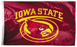 Iowa State Cyclones Official NCAA Premium Nylon Applique 3'x5' Flag - BSI Products Inc.