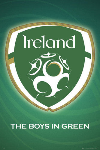 Republic of Ireland National Football Team Official Crest Poster - GB Eye