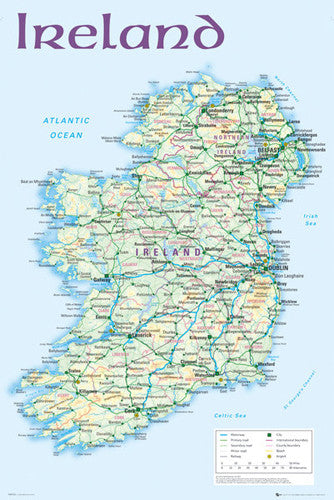 Map of Ireland Wall Poster - GB Eye (UK)