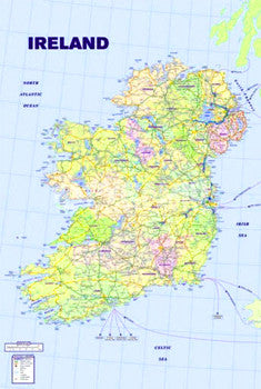 Wall Map of Ireland Poster - Pyramid Posters (UK)