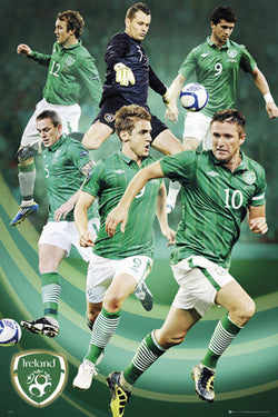 "Republic of Ireland Football ""Super Six"" (2012) Soccer Team Action Poster - GB Eye (UK)"