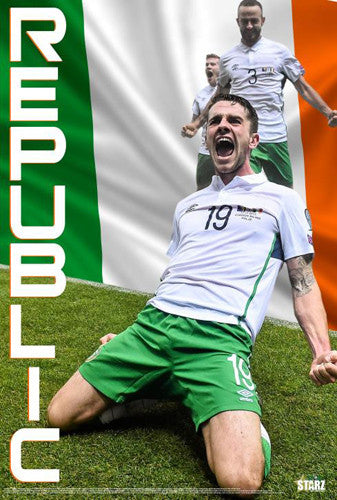 "Robbie Brady ""Goal!"" Republic of Ireland Football Soccer Poster - Starz"
