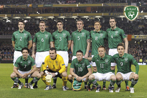 Republic of Ireland Football Matchday Team Portrait (2012) - GB Eye