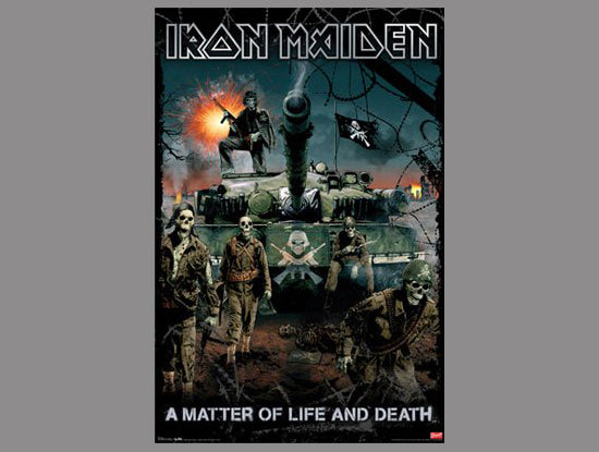 Iron Maiden A Matter of Life and Death (2006) Album Cover Art Music Poster - Trends International