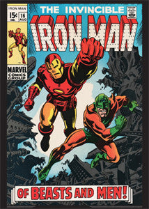 The Invincible Iron Man #16 (Aug. 1969) Vintage Marvel Cover Poster - Asgard Press