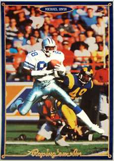 "Michael Irvin ""Roping 'em In"" Dallas Cowboys NFL Action Poster - Nike 1992"