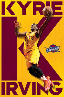 "Kyrie Irving ""Big K"" Cleveland Cavaliers NBA Basketball Action Poster - Costacos 2013"