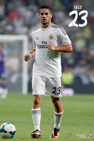 "Isco ""Superstar"" Real Madrid CF Official La Liga Soccer Poster - G.E. (Spain)"