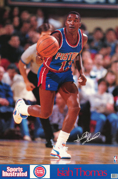 "Isiah Thomas ""Prime"" Detroit Pistons Poster - Marketcom Sports Illustrated 1990"