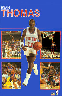 "Isiah Thomas ""Five-Shot"" (1988) Detroit Pistons Poster - Starline Inc."