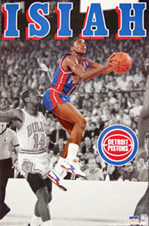 "Isiah Thomas ""Drive"" Detroit Pistons Poster - Starline 1991"