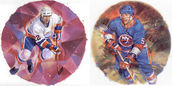 "New York Islanders ""Legends"" Art Prints Combo (Bossy, Potvin)"