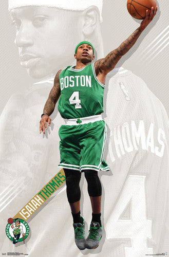 "Isaiah Thomas ""Superstar"" Boston Celtics Official NBA Poster - Trends International 2017"