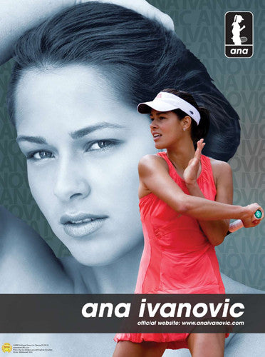 "Ana Ivanovic ""Superstar"" WTA Tennis Poster - Goldman Group 2008"