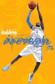 "Allen Iverson ""Acrobat"" Denver Nuggets NBA Action Poster - Costacos 2008"
