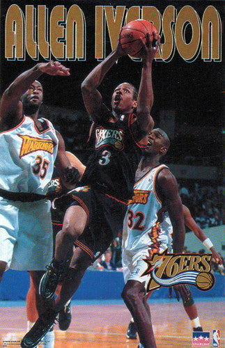 "Allen Iverson ""Action"" (1997) Philadelphia 76ers Poster - Starline Inc."
