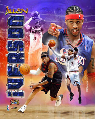 "Allen Iverson ""Philly Prime"" Philadelphia 76ers Collage Premium Poster Print - Photofile Inc."