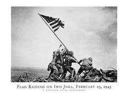 Flag Raising on Iwo Jima (February 23, 1945) Poster Print -  NYGS