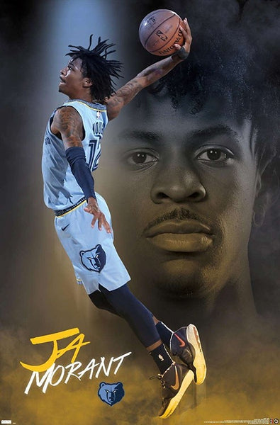 "Ja Morant ""Superstar"" Memphis Grizzlies NBA Basketball Poster - Trends International 2021"