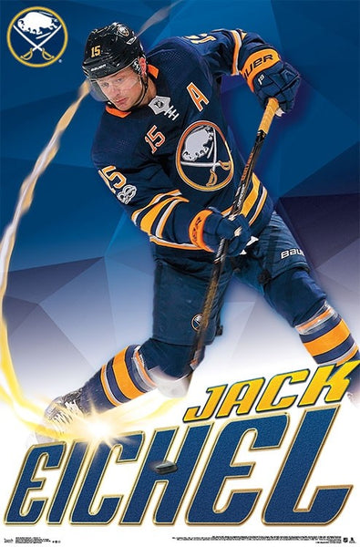 "Jack Eichel ""Blast"" Buffalo Sabres NHL Action Poster - Trends International 2018"