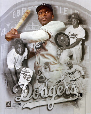 Jackie Robinson Brooklyn Dodgers LEGEND Commemorative Premium Poster Print - Photofile Inc.