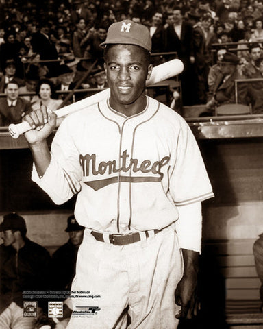 "Jackie Robinson ""Montreal 1946"" Premium Black-and-White Poster Print - Photofile"