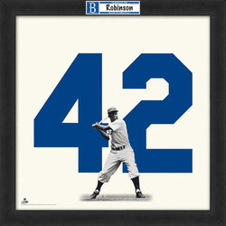 "Jackie Robinson ""Number 42"" Brooklyn Dodgers FRAMED 20x20 UNIFRAME PRINT - Photofile"