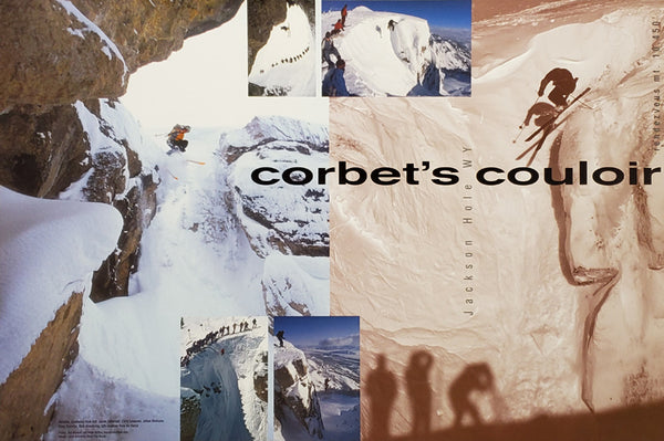 "Jackson Hole ""Corbet's Couloir"" Skiing Poster - Focus Productions"