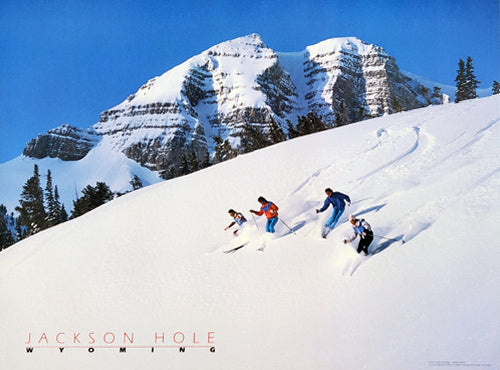 "Skiing at Jackson Hole Wyoming ""Cody Bowl Action"" Poster - Focus Productions"