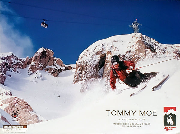 Jackson Hole Skiing Poster Featuring Olympic Gold Medalist Tommy Moe - Focus Productions 2006