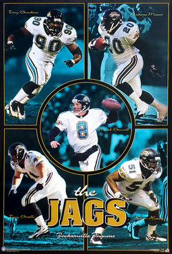 "Jacksonville Jaguars ""The Jags"" NFL Football Poster - Costacos 1997"