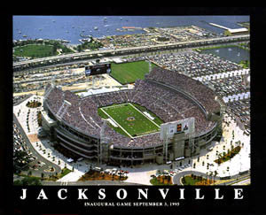 "Jacksonville Jaguars EverBank Field ""From Above"" Premium Poster - Aerial Views"