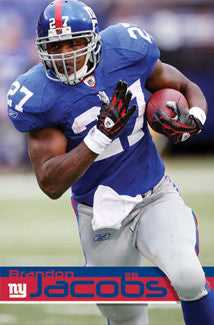 "Brandon Jacobs ""Power"" New York Giants Poster - Costacos 2009"