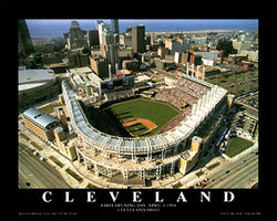 "Cleveland Indians Progressive Field ""From Above"" Poster Print - Aerial Views"
