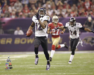 "Jacoby Jones ""108 Yards!"" Super Bowl XLVII Premium Poster Print - Photofile"