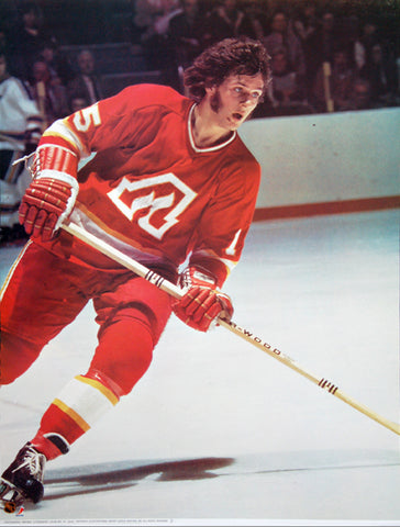 Jacques Richard Atlanta Flames NHL Action Portnoy Collection Poster - Sports Posters Inc. 1973