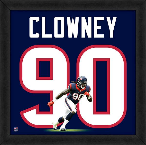 "Jadeveon Clowney ""Number 90"" Houston Texans FRAMED 20x20 UNIFRAME PRINT - Photofile"
