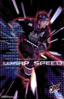 "Jaromir Jagr ""Warp Speed"" Washington Capitals Poster - Starline 2002"