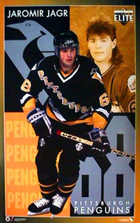 "Jaromir Jagr ""Elite"" Pittsburgh Penguins NHL Hockey Action Poster - Costacos 1995"