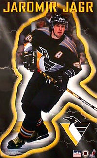 "Jaromir Jagr ""Glow"" Pittsburgh Penguins Poster - Starline Inc. 1998"
