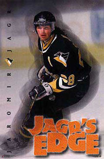 "Jaromir Jagr ""Jagr's Edge"" Pittsburgh Penguins Poster - Costacos 1997"