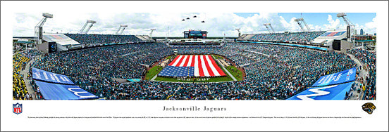 Jacksonville Jaguars EverBank Field 2012 Flag Ceremony Panoramic Poster Print - Blakeway
