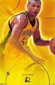 "Jalen Rose ""Intensity"" Indiana Pacers NBA Action Poster - Costacos 2000"